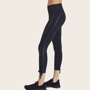 Urban Savage Side Striped Lace-Up Self Tie Performance Stretch Leggings